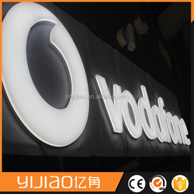 yijiao standard styles (fonts) acrylic luminous letter face and partial side lit