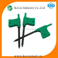 Staight/flat torx key made in China T5,T6,T7,T8,T9,T10,T15,T20,T25 green Color flag torx wrench