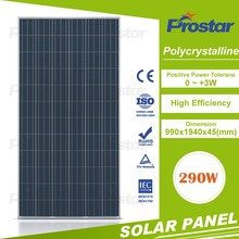 thin film photovoltaic solar panel 290Watt cell polycrystallfor high efficiency low price