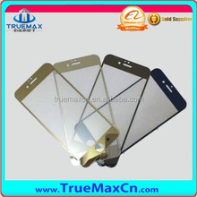 High Clear Mirror Gold Front Screen Protector for iPhone 6 plus, for iPhone 6 plus Back screen protector glass