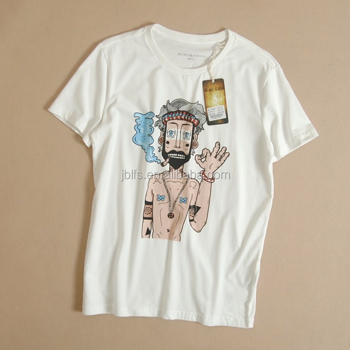 In the summer of 2015 the new cotton cultivate one's morality short sleeve T-shirt printing round collar men