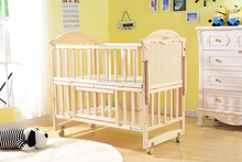 comfortable new design custom made wood baby crib/baby crib dimensions