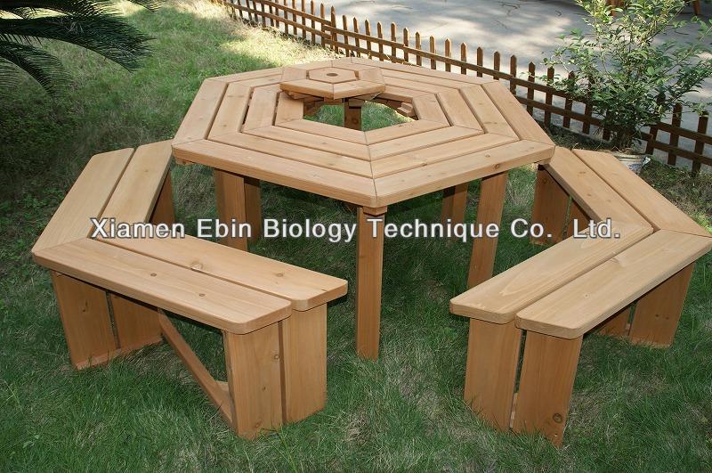 sechseck grill holz picknick tisch und stuhl holztisch produkt id 1394728199. Black Bedroom Furniture Sets. Home Design Ideas