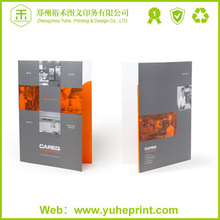 Top grade rational overseas printer 300gsm coated paper CMYK printing a4 clear file folder document holder