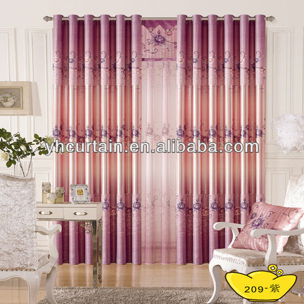 purple elegant eyelet curtain 2013 newly design
