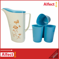 2016 1.8L PP plastic water pitcher set with 4 cups