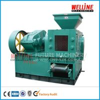 Roller press round oval bread shape coal making machine price