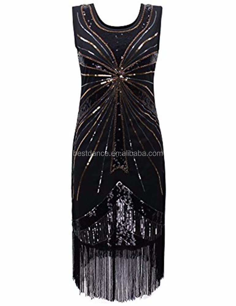 BestDance Fringe 1920s Flapper Dance Dress Great Gatsby Theme Party Halloween Costume Dress OEM