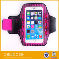 2015 Neoprene Material Compatible Brand Sport Armband, LED Sport Armband Case for iPhone6