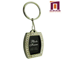 Fashion High quality Metal Photo frame keychain/keyrings for promotion gifts