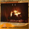 High quality black wire mesh fireplace spark screen mesh