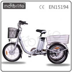 MOTORLIFE/OEM ELECTRICIAL TRICYCLE 3 WHEEL ELECTRIC BIKE FOR ADULT