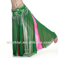 Wholesale new hot selling sexy chiffon bellydance skirts, women's long chiffon belly dance skirts (QC1033)