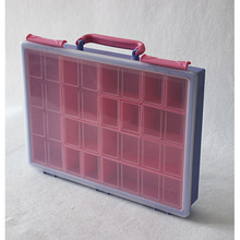 Custom made color handle assorted plastic storage box