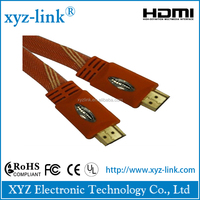 2015 new arrival optical fiber HDMI cable support 150m red pvc flat