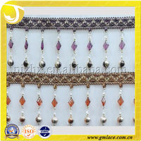 Ribbon Fringe , Square Beads Fringe ,Shinning Fringe Pakistan Swords