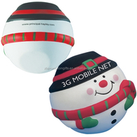 customize snow man stress ball toys for promotion