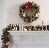 china supplier christmas ornaments LED christmas wreath&garland