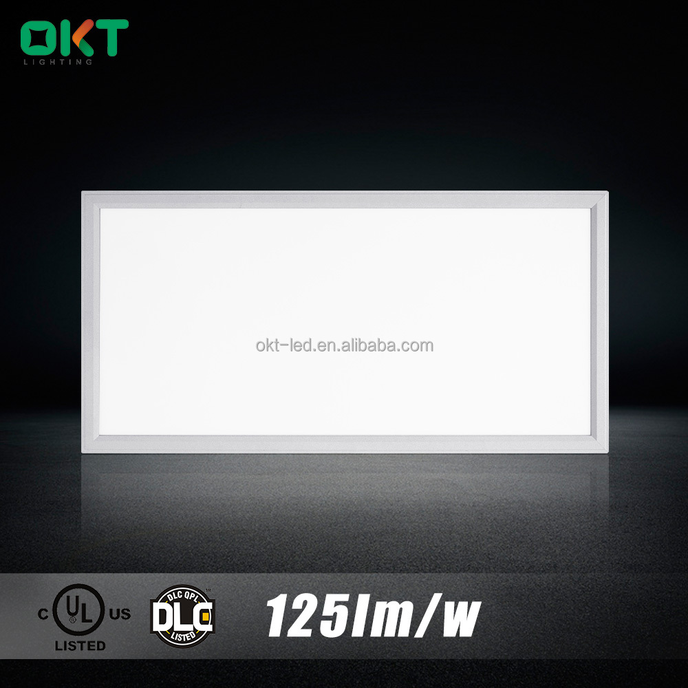 USA and Canada market UL ETL DLC >113lm/w led flat panel lighting 2'x4' 5000 lumen