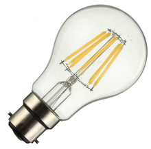 e27 6W energy saving clear glass led bulb light/led filament lamp