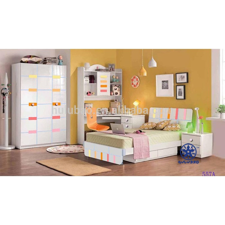 Candy colorful painting New Design Children furniture set Sweet for boys and girls