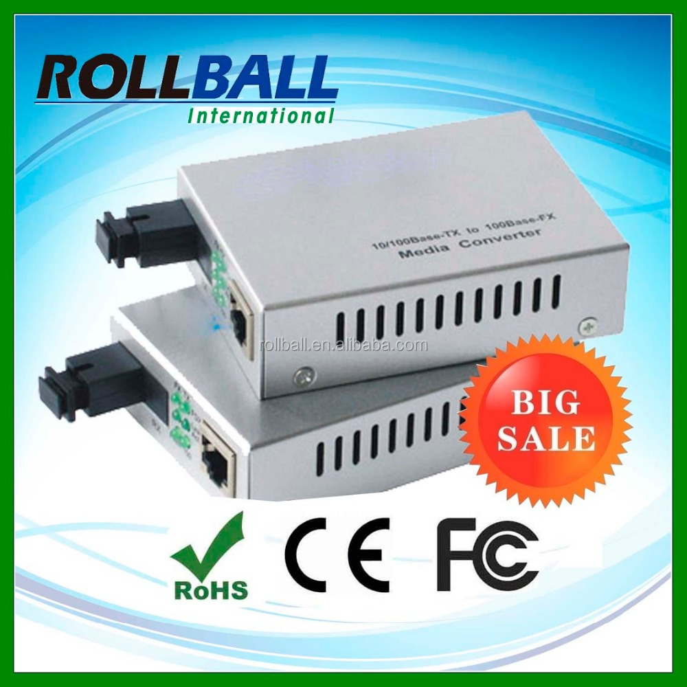 100M 20km fiber optic media converter rj45 sc connector