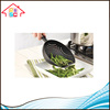 Kitchen Tool Food Pasta Vegetable Strainer Plastic Colander Scoop Black WIth Stainless Steel Handle