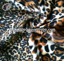 Plush Brushed Animal Printed Knitting Velvet Fabric For Bedding, Sofa,Cushion