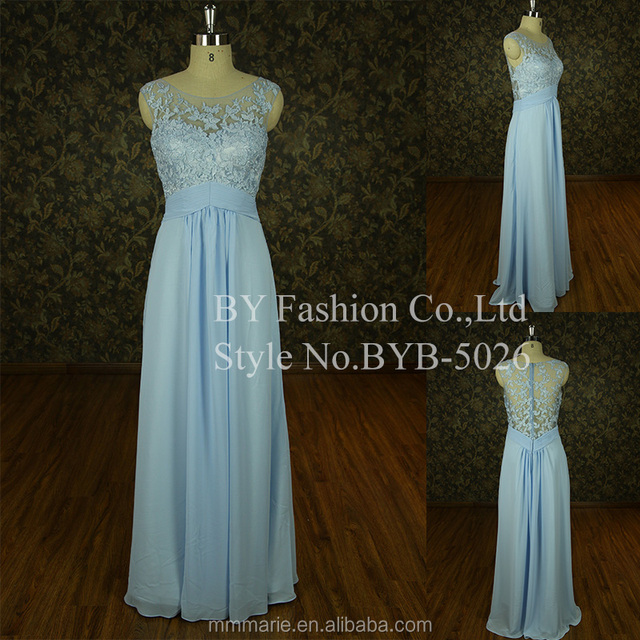 2016 new style high quality evening dress alibaba bridesmaid dresses light blue girls one piece dress bridal collection