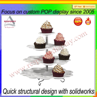 Customize Beautiful Acrylic Cupcake Display Rack Display Stand For Cake Shop