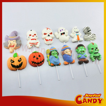 Halloween marshmallow lollipop candy