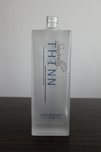 PACKAGING 750ML VODKA GLASS UNPOLISHED BOTTLE FOR GORGEOUS LIQUOR