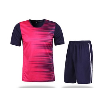 2017 New Style Thai Quality Pink Football Jersey , football Uniform