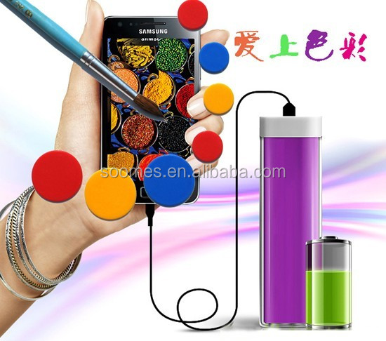 2600mah legoo lipstick power bank for mobile phone, mobile charger