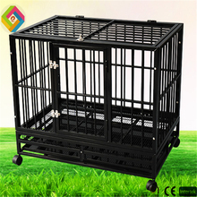 Square pipe high-grade pet cage black green plastic spray treatment of large and medium-sized dog cage
