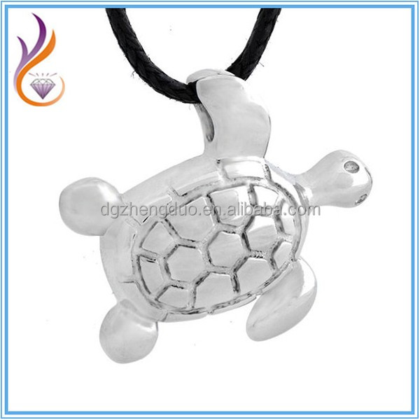 Top Quality Ash Jewelry 316L Stainless Steel Casting Sea Turtles Pet Cremation Waterproof Keepsake Urn Jewelry
