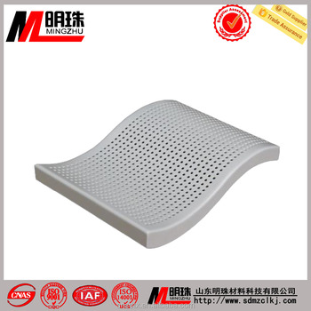 Indoor ceiling curtain wall powder spraying curved aluminum panel
