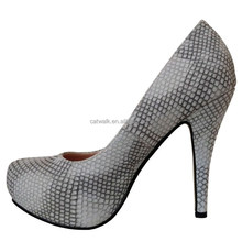 KDA-8076 design fashion lady dress shoe women pu snake skin high heel shoes 2014 new fashion ladies pumps heels shoes