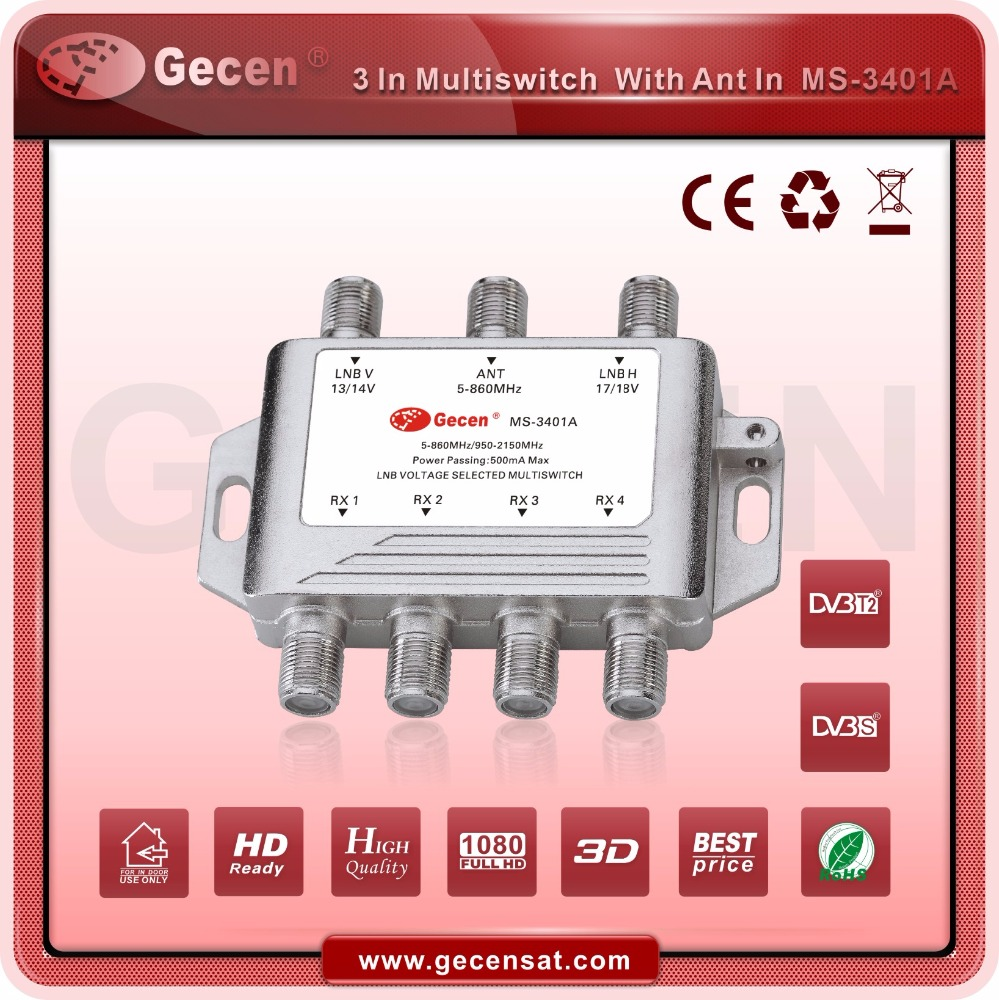 Hot Selling satellite 3 in 4 Multiswitch MS-3401