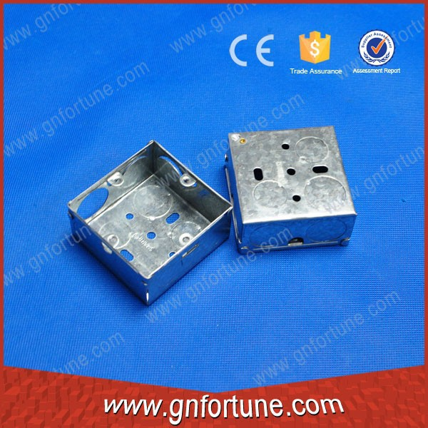Single gang BS 4662 galvanized steel Conduit Boxes