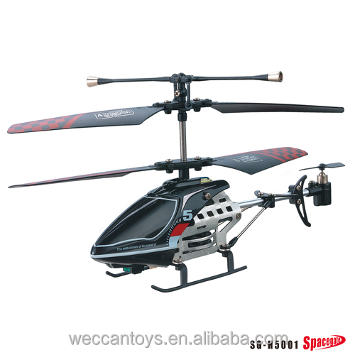 superior quality radio control 3 channel RC helicopter with long control distance, for outdoor use and with gyroscope