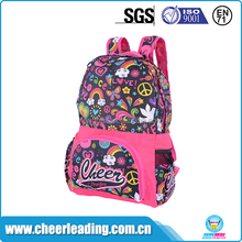 Large capacity pink school backpack for girls