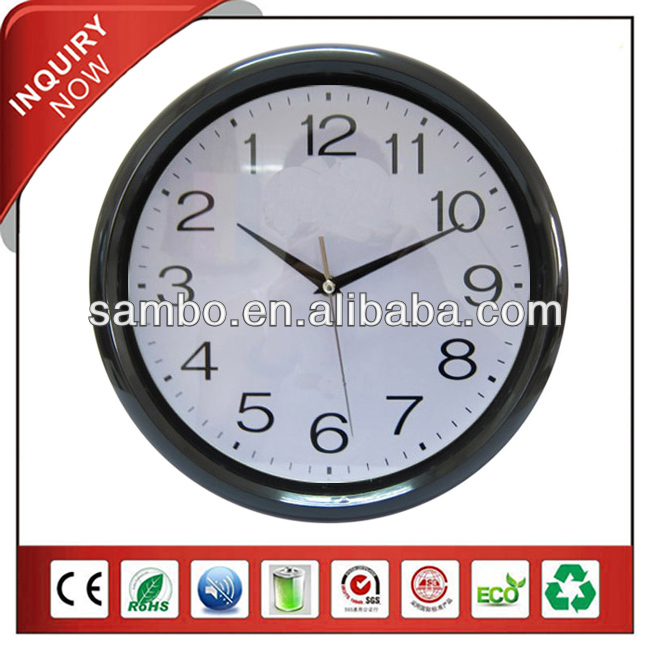 Small Babyroom Wall Decor Backwards Running Clock
