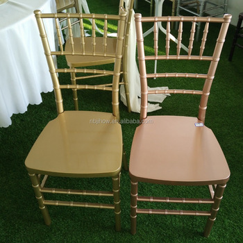 wholesale America Pink gold rose gold chiavari chair tiffany party rental chair