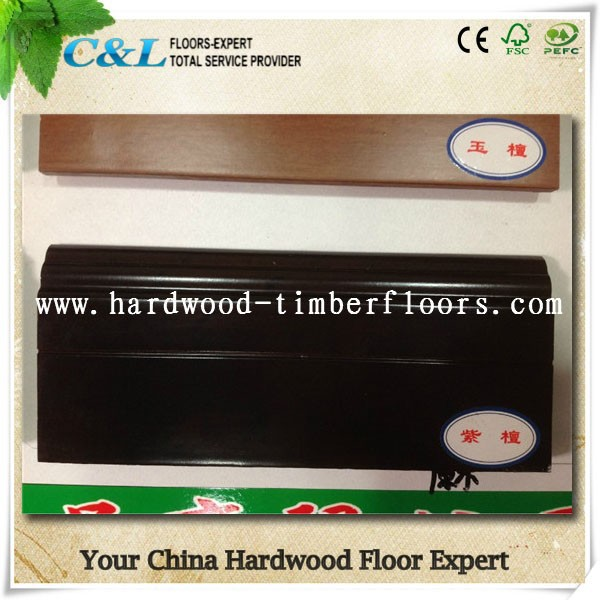 C&L smooth ipe color solid wood skirting board
