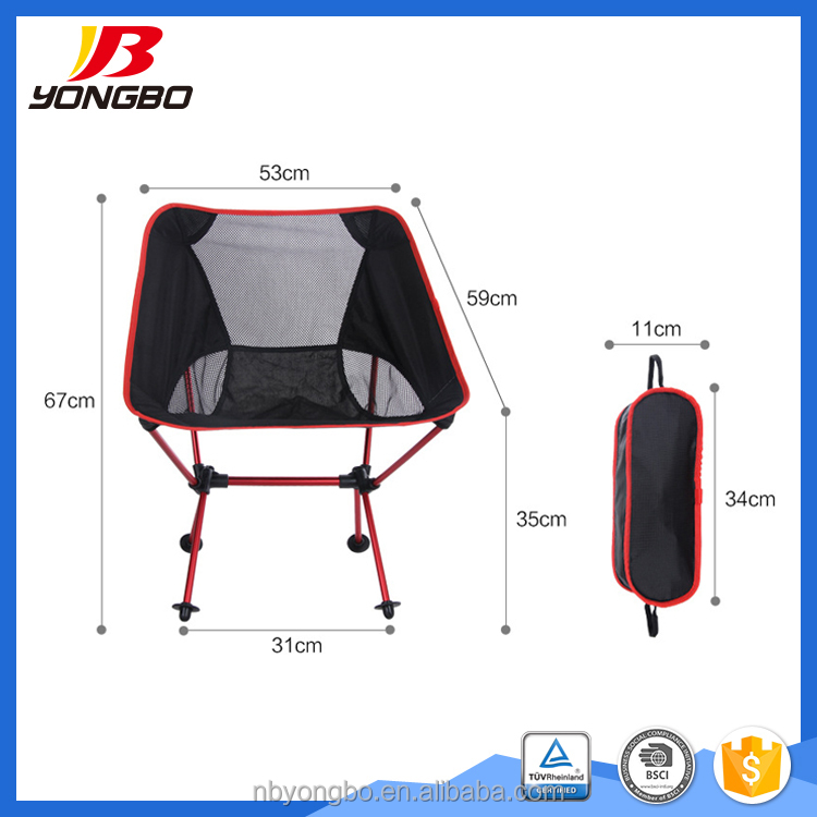 Travel Lightweight Portable Folding Fabric Camping Chair with logo