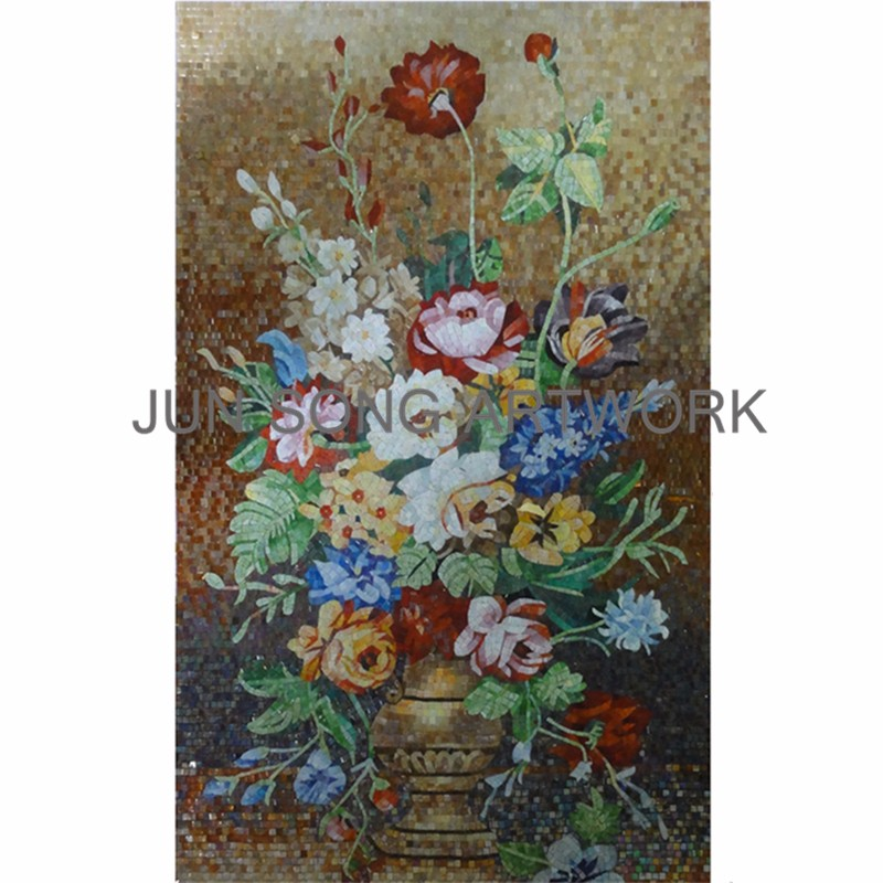 MFL-VF04 Handmade Chinese Mosaic Flower Pattern Wall Tiles Interior Decoration Bathroom Tiles Mosaic