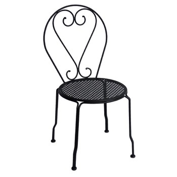 Cheap Outdoor Garden Black Metal French Dining Chair