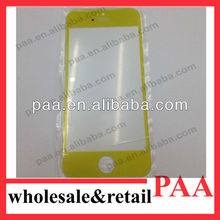 Replacement parts For iPhone 4s Front Glass Cover yellow