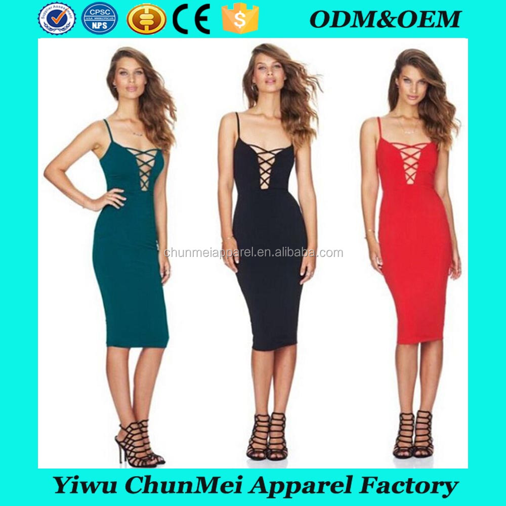 2017 Latest harness details bandage new dress wholesale sexy dress for women